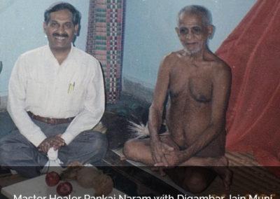 Dr. Pankaj Naram with Digambar Jain Muni