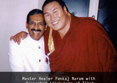 Dr. Pankaj Naram with Respected Adjon Lama of Tibet