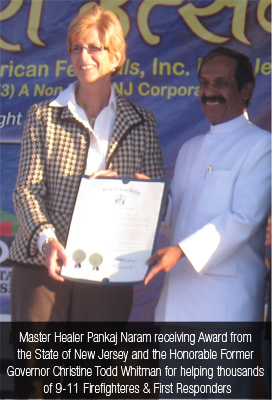 Dr. Pankaj Naram receiving Award from the state of New Jeresey