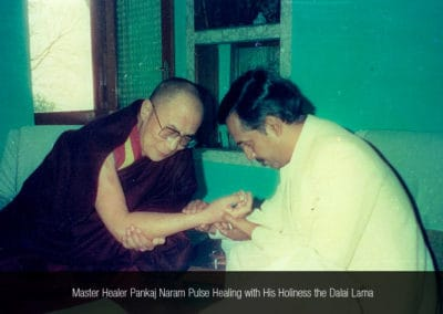 Dr. Pankaj Naram Pulse Healing with His Holiness the Dalai Lama