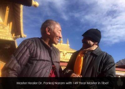 Master Healer Pankaj Naram with 149 Year Master in Tibet