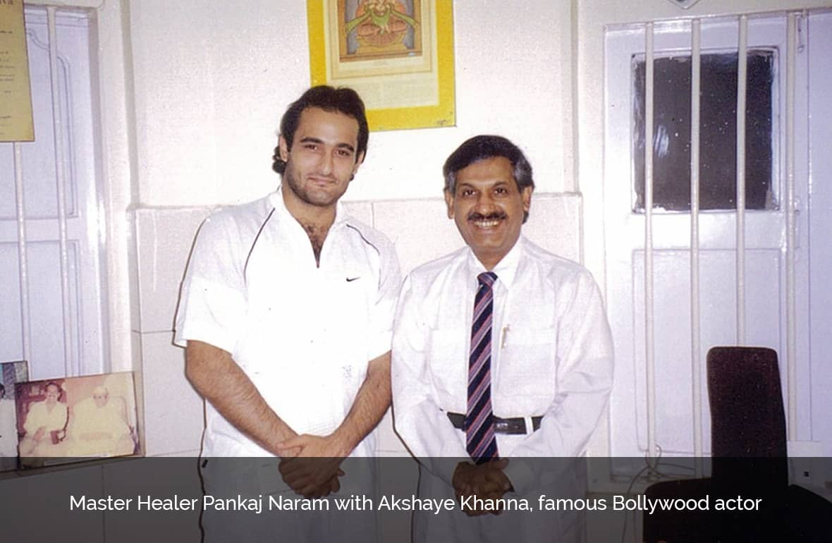 Dr. Pankaj Naram with Akshaye Khanna, famous Bollywood actor